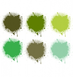 Splash retro green collection vector