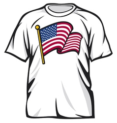 United states of america t-shirt vector