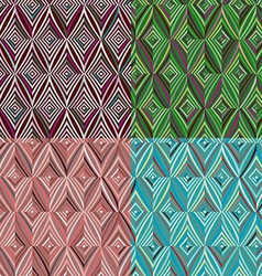 Set of 4 seamless pattern modern stylish texture vector