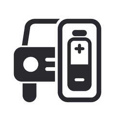 Car energy icon vector