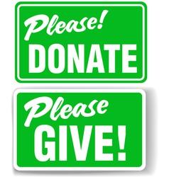 Please donate vector