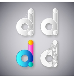 Abstract combination of letter d vector