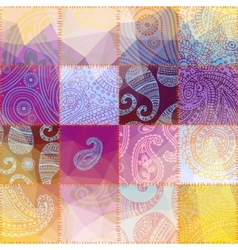 Patchwork with transparency effect vector