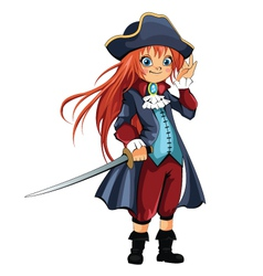 Girl-pirate vector
