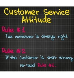 Rules of customer service vector