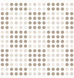 Seamless geometric pattern with square of circles vector