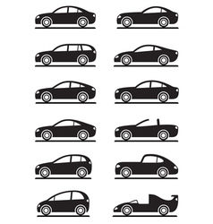 Different modern cars vector