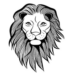 Lion head animal vector