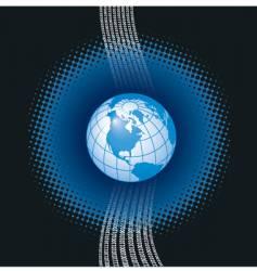 Binary globe background vector