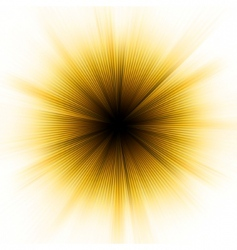Golden explosion of light vector