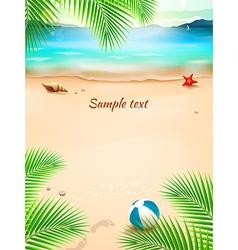 Summer beach background seascape sand wave vector
