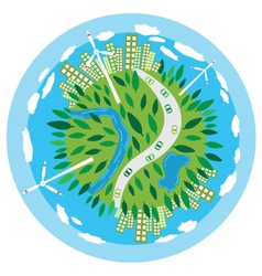 Sustainability planet vector
