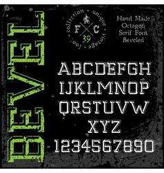 Handmade retro font slab serif vector