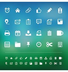 Retina office tools icon set vector