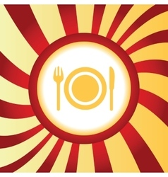 Dishware abstract icon vector