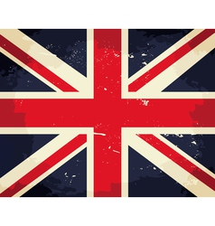 Vintage great britain flag vector