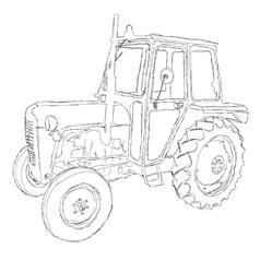 Tractor art vector