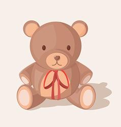 Bear doll objects sweet cute vector