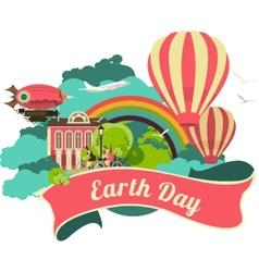 Earth day emblem vector