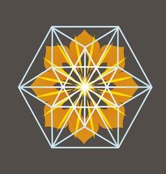 Star tetrahedron print vector