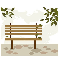 Park bench background vector