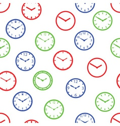 Watch dial simple color seamless pattern eps10 vector