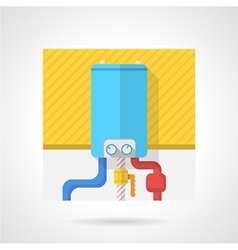 Colorful icon for water boiler vector