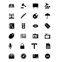 Tools icons 4 vector