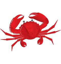 Boiled crab vector