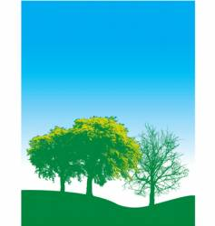 Spring trees background vector
