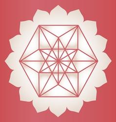 Star tetrahedron stamp vector