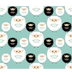 Seamless sheep pattern5 vector