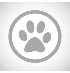 Grey paw sign icon vector