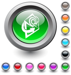 E-mail round button vector