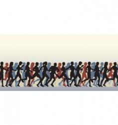 Mass runners vector
