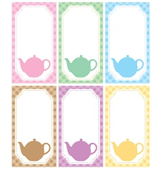Tea label vector