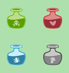 Magic potions vector