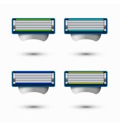Modern razor icons set on white background vector