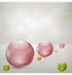Abstract background with glass spheres vector