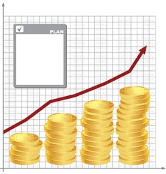Plan for financial growth vector