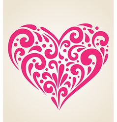 Decorative red heart vector