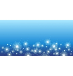 Shining stars on blue seamless horizontal pattern vector