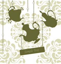 Chain coffeepots vector