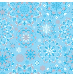 Blue snow pattern vector
