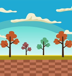 Cartoon landscape background vector