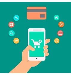 Concepts of online payment methods vector