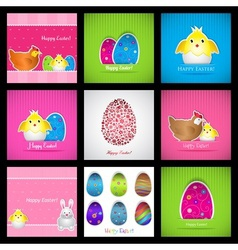 Set of easter cards vector