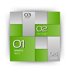 Business squares green with text vector