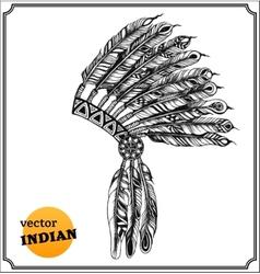 American indian chief headdress vector
