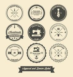 Apparel and denim label vector